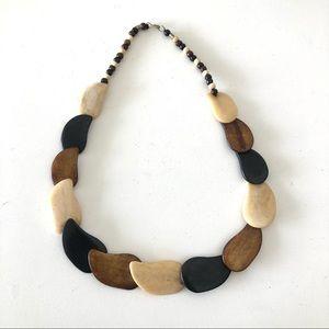 Vintage Designer Wood Necklace